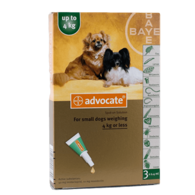 ADVOCATE 6 PACK SMALL DOGS UNDER 9 LBS