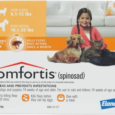 COMFORTIS FOR DOGS 10.1-20LBS _ CATS 6.1-12LBS – ORANGE 6 PACK