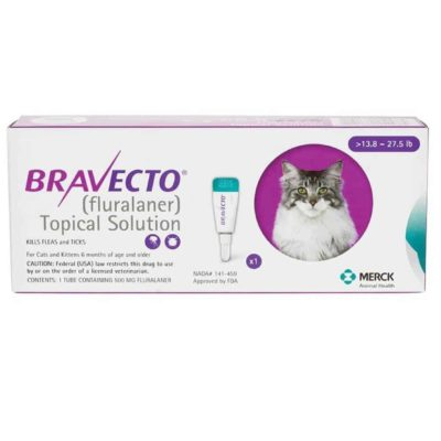 BRAVECTO TOPICAL SOLUTION FOR CAT Large 13.8-27.5 LBS (6.25 - 12.5KG) - 1 DOSE